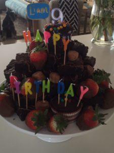 Birthday Brownies