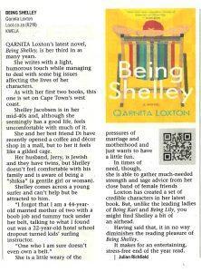 Qarnita Loxton - Being Shelley - Cape Times - 06 December 2019